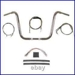 1 1/4 Chrome 14 Ape Hanger Handlebar Kit 1996-2006 Harley-Davidson Softail