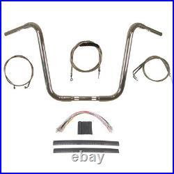 1 1/4 Chrome 16 Ape Hanger Handlebar Kit 1990-1995 Harley-Davidson Softail