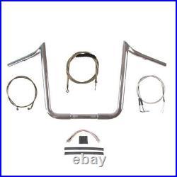 1 1/4 Chrome 16 PrimeApe Ape Hanger Handlebar Kit 1996-2006 Harley Softail