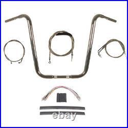 1 1/4 Chrome 18 Ape Hanger Handlebar Handlebar Kit 1996-2006 Harley Softail
