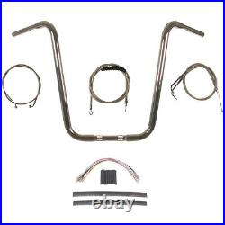 1 1/4 Chrome 20 Ape Hanger Handlebar Kit 1996-2006 Harley-Davidson Softail
