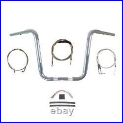1 1/4 Chrome Narrow 14 Ape Hanger Handlebar Kit 1996-2006 Harley Softail