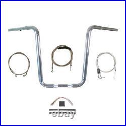 1 1/4 Chrome Narrow 16 Ape Hanger Handlebar Kit 1996-2006 Harley Softail
