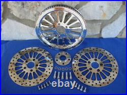 70 T 1 1/8 Spoke Pulley & Rotor Kit Parts For Harley Softail And Dyna 00-06
