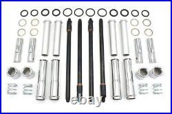 Adjustable Pushrod Chrome Cover Kit 17997-99A TC-88 Harley Softail Dyna Touring