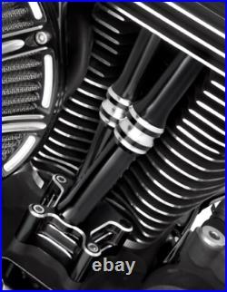 Arlen Ness Black 10 Gauge Pushrod Cover Kit 99-17 Harley DYNA Touring Softail
