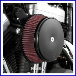 Arlen Ness Black Big Sucker Air Cleaner Filter Kit Harley Touring Dyna Softail