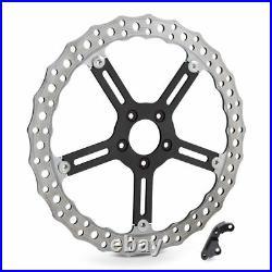 Arlen Ness Left Side Rotor Wave 15 Big Brake Kit Disc 00-14 Harley Softail Dyna