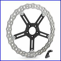 Arlen Ness Left Side Rotor Wave 15 Big Brake Kit Disc 06-17 Harley Softail Dyna