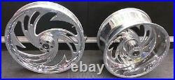 Arlen Ness WHEELS 300 X 18 REAR 21 FRONT 10.5 SOFTAIL HARLEY WIDE TIRE KIT 10