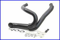 Black 2 Into 1 Race Exhaust Kit For Harley-Davidson Softail & Dyna 2012-2017