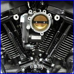 Black S&S Quickee Adjustable Pushrods Covers Kit Harley 17-21 Touring Softail M8