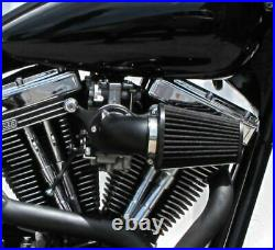 Black Screaming Eagle Style Air Cleaner Kit CV Carb Harley Softail Dyna Touring