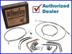 Burly 14 Handlebar Braided Stainless Steel Cable Line Kit 00-06 Harley Softail