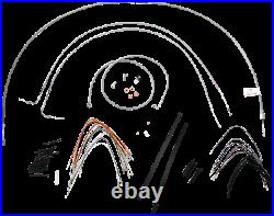 Burly Stainless Cable and Brake Line Kit 16 Apes for 2007-2010 Harley Softail
