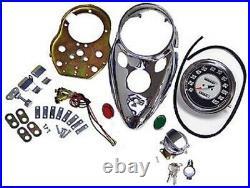 Cateye Speedometer 11 Chrome Dash Kit Harley Shovelhead Fl Flh Fx Fxe Softail