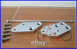 Chrome 3 inch Forward Control Extension Kit 4 Harley Softail Bad boy Wide Glide