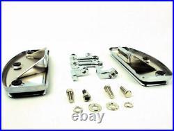 Chrome Floor Boards Floorboard Kit 80-13 Harley Softail FXWG Chopper Bobber FX