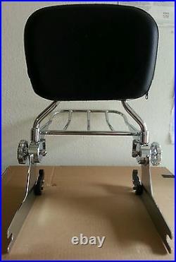 Docking Kits+New Detachable Backrest Sissy bar for Harley Softail 00-05