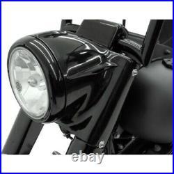 Drag 2001-1482 Black Nacelle Headlight Cowl Kit 01-17 Harley Softail FLST
