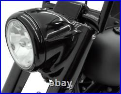 Drag Specialties 7 Black Headlight Cowl Nacelle Kit Harley Softail FL 86-2017