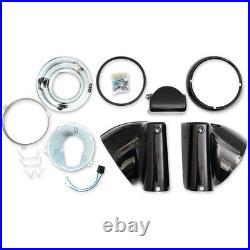 Drag Specialties Black Headlight Nacelle Kit for 7 Light 86-17 Harley Softail