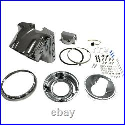 Drag Specialties Chrome Headlight Nacelle Kit for 7 Light 86-17 Harley Softail