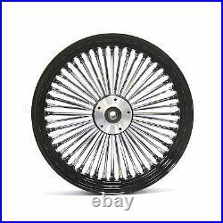 Fat Spoke 16 Rear Wheel Black Harley 08-18 Softail Fls Slim Flstn Deluxe