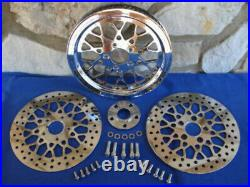 For Harley Flst, Softail Deluxe 2007-up Mesh 66 Tooth Pulley Brake Rotor Kit