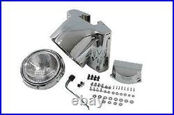 Freight Train Chrome Headlight Nacelle Kit For Harley-Davidson Softail
