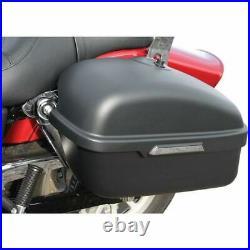 HARDBAGGER Slimbag Saddlebag Kit with Brackets Gloss Black Harley Softail Dyna
