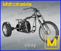 HARLEY TRIKE KIT ROLLING CHASSIS ROLLER KIT With AXLE FRAME WHEELS FRONT END