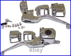 Handlebar Hand Control Kit + Switches Harley Softail Flst Flstc Heritage 96-06