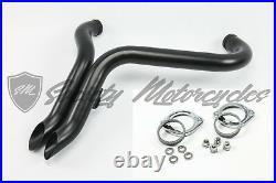 Harley Davidson 1.75 883 Black Drag Pipes LAF Gasket Flange Kit Softail Chopper