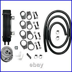 Harley Dyna Sportster Softail Touring Ölkühler Kit JAGG 6 Row schwarz
