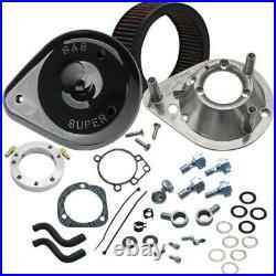 Harley SOFTAIL DYNA BIG TWIN Teardrop Luftfilter Kit schwarz S&S 93-17