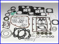 James Complete Motor Engine MLS Gasket Kit 2005-2017 Harley Touring Softail Dyna