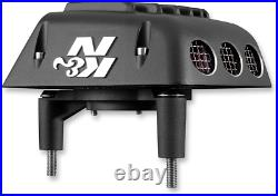 K&N Black Street Metal Air Cleaner Kit for 99-17 Harley Dyna Touring Softail FXS