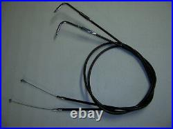 Kupplungzug/Gaszug/Bremsleitung komplett Kit EXTRA Lang Harley Softail 1996-2010
