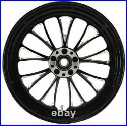 Manhattan Black Rear Billet Wheel 16 Harley 08-19 Softail Slim Heritage Deluxe