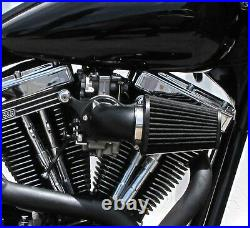 Outlaw Black Air Cleaner Filter Kit 93-13 Dyna Softail CV Carb Big Twin Harley