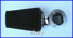 Outlaw Chrome Air Cleaner Filter Kit 93-13 Dyna Softail CV Carb Big Twin Harley