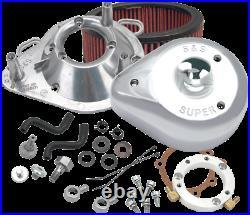 S&S Chrome Teardrop Air Cleaner Filter Kit 01-20 Harley Dyna Softail FXSTI FLD