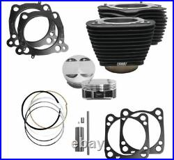 S&S Cycle M8 Big Bore Cylinder Kit Black 114 128 Harley Touring Softail 17-20