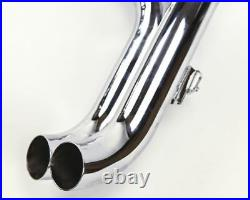 Softail Harley Davidson Exhaust LAF 2.25 Drag Pipes Exhaust Chrome Gasket Kit