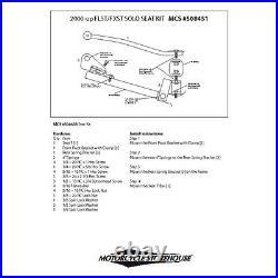 Solo Sitz Montagekit für WLC und KR Sitze für Harley Davidson Softail 00- 07