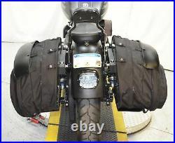 T-Sport Waterproof Ballistic Nylon Saddlebags Set Mount Kit Harley Softail 18+