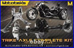 Trike Axle Conversion Kit & Swing Arm For Harley Softail Models Fits 1984-1999