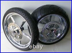 Wheels 300 X 18 Rear 21 X 120 Front 10.5 3.25 Softail Harley Wide Tire Kit